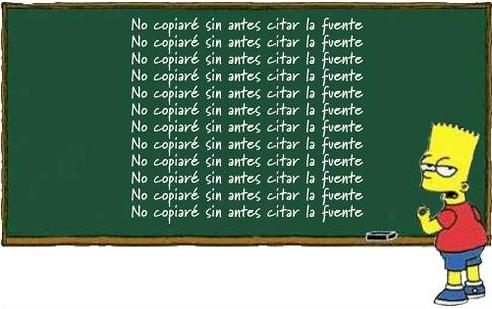 Bart no copiaré sin citar antes la fuente